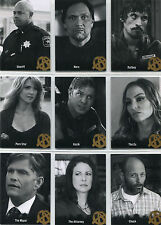 Sons of Anarchy Season 4 & 5 Character Bios Complete 9 Card Chase Set