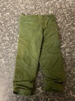 VINTAGE PALITOY ACTION MAN GREEN TROUSERS GOOD CONDITION FOR AGE