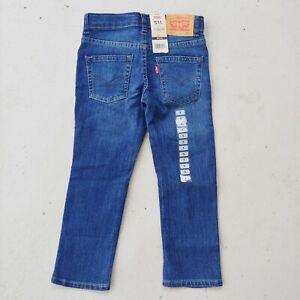 Levi's 511 Slim Fit Dark Wash Jeans Toddler Boys Size 5 Reg NWT