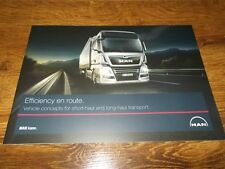 MAN TGX Trucks Range Brochure Prospekt Catalogue