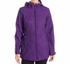 Gerry Women's Zoe Hooded Softshell Jacket Wild Grape Brush Print Size Medium
