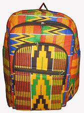 Kente Print African Backpack Book Bag Rucksack Handmade Ankara Backpack  Bag