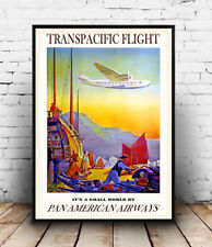 Pan am Transpacific : advertising Poster reproduction
