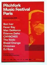 Flyer PITCHFORK MUSIC FESTIVAL PARIS 2018 * NOT a Ticket * Daho Voidz DeMarco