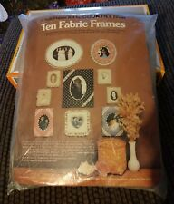 Vintage New Sealed Country Fair Ten Fabric Frames Soft Frame Kit 9137 Fast Ship