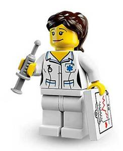 NEW LEGO - Figure - Collectible MiniFigure Series 1 - Nurse - NO Instructions