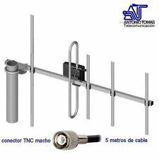 Antena 433 MHz (UHF 400-470 MHz) ganancia 6 dBi con 5 m de cable y TNC macho