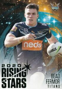 2021 NRL Traders Rising Stars Parallel Card Gold Coast Titans Beau Fermor RSP05