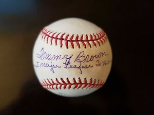 Tommy Brown Autographed Baseball - Youngest To Hit Home Run