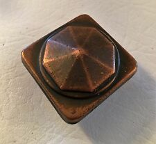 "Copper Antique Hardware Drawer Pull Vintage Cabinet Knob Arts Craft 7/8"" center"