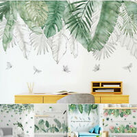 Tropical Leaves Plant Flower Wall Stickers Kids Home Decor Bedroom Office