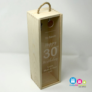 Personalised Birthday Wine Box 18th, 21st, 30th, 40th, 50th, 60th Gift