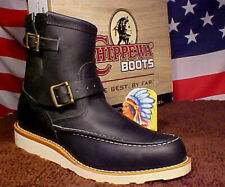 Chippewa Boots Mens Shoes USA Made Vibram Wedge Sole Moc Toe Engineer 97879