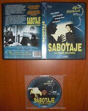 Sabotaje (La mujer solitaria) / Sabotage 1936 [DVD] DIVISA RED Alfred Hitchcock