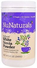 Blanco Stevia en polvo por NuNaturals, 340g; - crazyvalue!!!