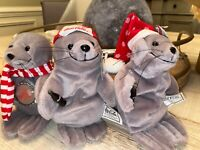 1997 Set Of 3 COCA-COLA Seal Mini Bean Bag Plush- With Tags