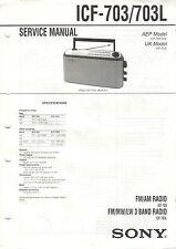 SONY - ICF 703/703L 710L 780L 780S - 4x Service Manual - B2380