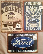 Ford Pack of 3 tin signs. Mancave Signs Aussie Seller