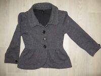Damenjacke Blazer weiß/grau H&M Gr.XS sehr guter zustand