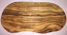 Utopia Solid Olive Wood Chopping Serving Board Rustic Natural Curved - Kitchen