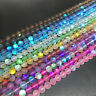 Round Fiery Flash Shining Sparkling Strand Crystal Beads DIY Jewellery Making