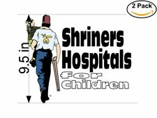 Shriners Hospitals 2 Stickers 9.5 inches Sticker Decal