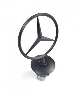 Mercedes Logo Emblem Decal Star Front Bonnet Hood Badge Ornament Black W204 W210