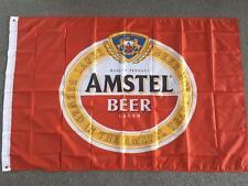 AMSTEL BEER FLAG 3 x 5ft - 96cm x 144cm HOLLAND DUTCH BAR FLAG BEIR MAN CAVE NEW