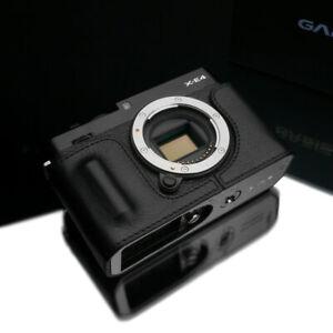 Gariz HG-XE4BK Genuine Leather Half Case for Fuji Fujifilm XE4 X-E4, Black