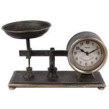 Standuhr Shabby - Metall - Uhrwerk Dekouhr Nostalgie Waage-Uhr-Design