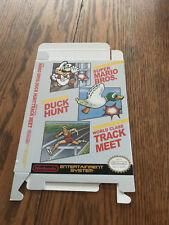 Nintendo NES SUPER MARIO BROTHERS / DUCK HUNT / TRACK MEET COMBO box ONLY!!!