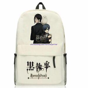 Japan Anime Black Butler Canvas Backpack Kuroshitsuji Sebastian Ciel Travel Bag