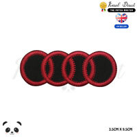 Audi Car Brand Logo Embroidered Iron On Sew On Patch Badge For Clothe Etc