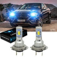 Pair Bulbs H7 LED Headlight Bulbs 100W Extremely Bright ICE BLUE 8000K For BMW
