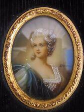 QUADRO IN MINIATURA dipinti e firmata da Madame Del Barry