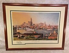 Old Baltimore Harbor by Paul McGehee  Artist Proof w/ Remarque Framed & Matted