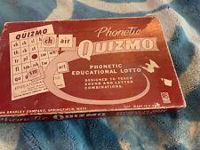 VINTAGE 1957 Milton Bradley Phonetic QUIZMO Teaching Education Game