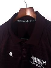 Adidas Men's Shirt 100% Polyester Mississippi State Basketball Short Sleeve L