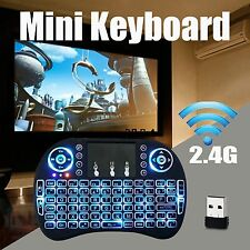 Mini i8 Backlight Wireless Keyboard For Smart TV Android BOX With Cable Battery