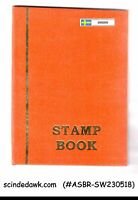 COLLECTION OF SWEDEN MINT STAMPS IN SMALL STOCK BOOK - 93 STAMPS