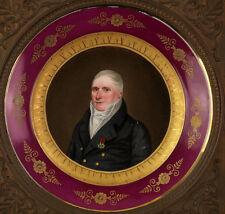 C. Martinet Lupenfein bemalter Empire Porzellan Teller Frankreich datiert 1822