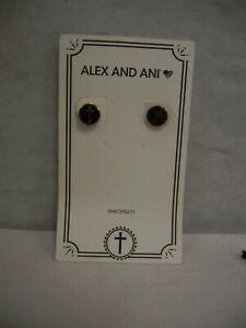 Alex and Ani 14kt Rose Gold Plated Cross Stud Earrings NIB
