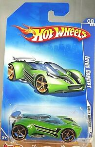 2009 Hot Wheels #134 Faster Than Ever 8/10 LOTUS CONCEPT Green w/Gold FTE Spoke