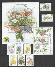 D0995 SIERRA LEONE FLORA NATURE FLOWERS OF WORLD EXPO AUSTRALIA 99 SET+BL+KB MNH