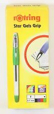 10 x Rotring STAR GELS Gel Ballpoint Pens Green Fine 0.7mm
