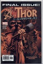 THE MIGHTY THOR #587 (85) signed 1st print RAGNAROK LAST ISSUE M.A.OEMING MARVEL