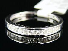 1/2 CT WHITE CHANNEL DIAMOND WEDDING BAND RING .48 CT