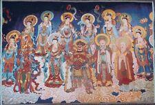 Exquisite Tibet Cloth Silk Gods Guanyin  Buddha Tangka Thangka Painting Z2