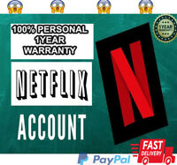 NETFLlX ACCOUNT 100% PERSONAL 1YEAR/365DAYS PREMIUM PLAN 100%PERSONAL 4SCREENS
