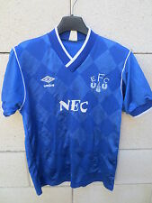 VINTAGE Maillot EVERTON home shirt 1986 1989 UMBRO NEC jersey football S 34 - 36
